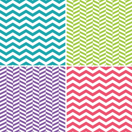 Seamless Zigzag  Chevron  Patterns Vector