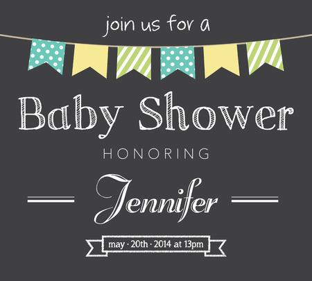 invitacion baby shower: Tarjeta de Invitación Baby Shower Vectores