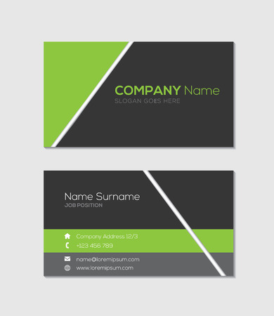 business banner: Modern business card template Illustration