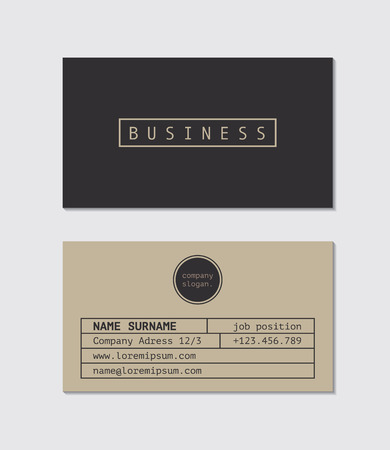 business card template: Business Card Template Illustration