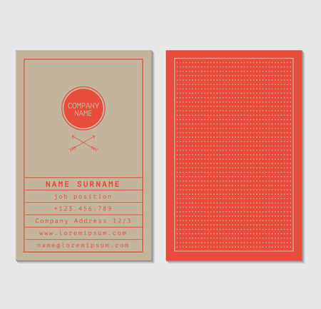 business banner: Business Card Template Illustration