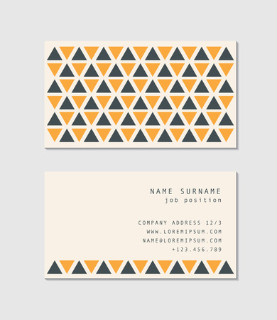 Modern business card template Illustration