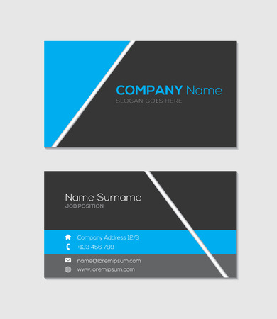 business card template: Modern business card template Illustration