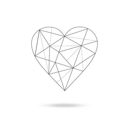 Geometric heart shape Illustration