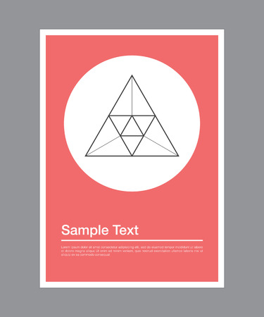 title page: Geometric poster design