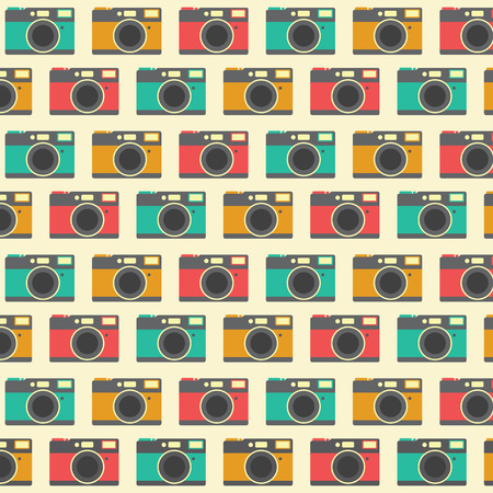 Hipster camera illustration background pattern Ilustracja