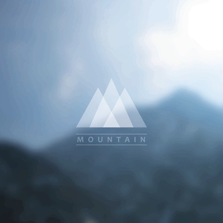 unfocused: Mountain background with badge