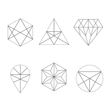 logo: Set of icons, geometric logo