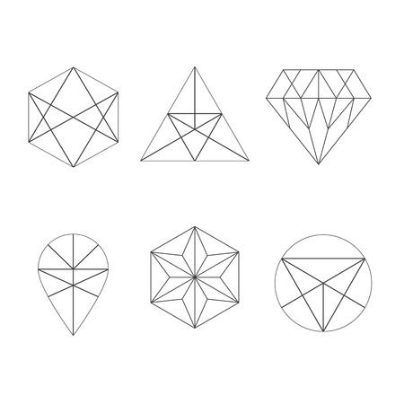 Set von Symbolen, geometrischen logo