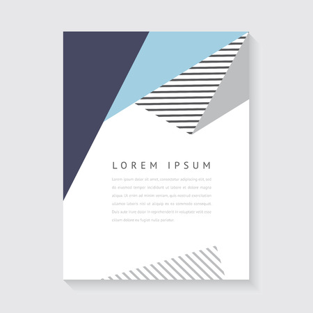 抽象的なデザインのポスターやパンフレット  イラスト・ベクター素材