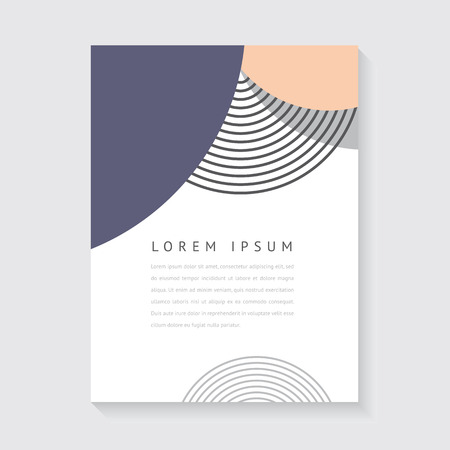 Abstract design for poster or brochure Çizim