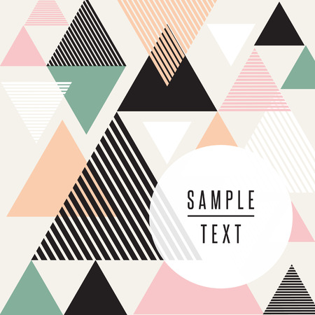 colores pastel: Diseño del triángulo abstracto con texto