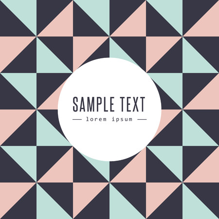 Abstract triangle design with text Vector