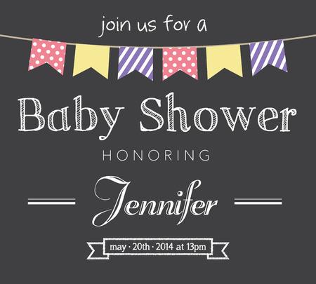 Tarjeta de Invitación Baby Shower Vectores