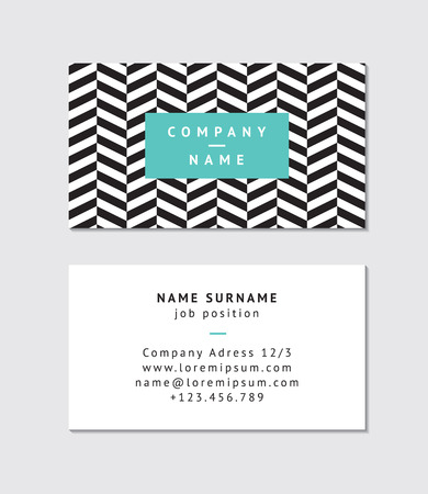 my name is: Modern business card template Illustration