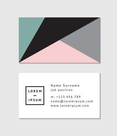 plantilla para tarjetas: Tarjeta de visita moderna