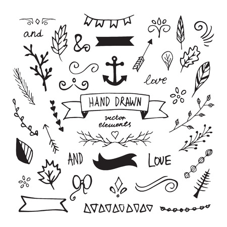 Hand Drawn Vector Design Elements
