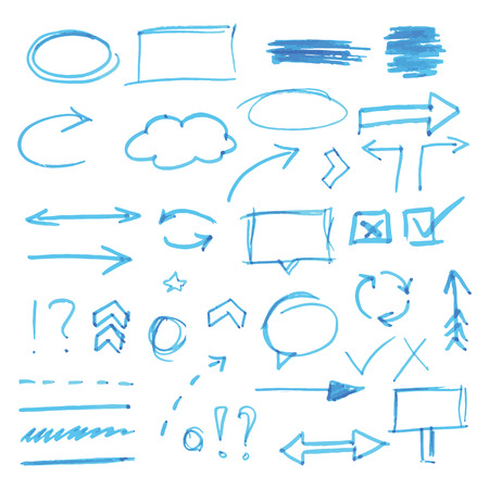Handdrawn design elements