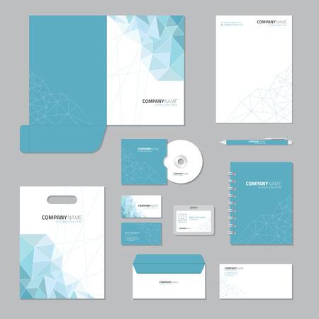 Stationary template design. Corporate identity business set. Vettoriali