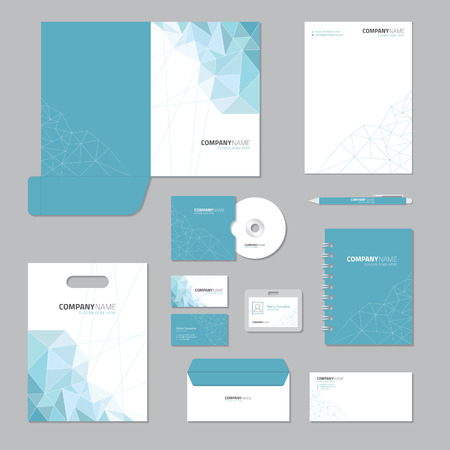 Stationary template design. Corporate identity business set. 矢量图像