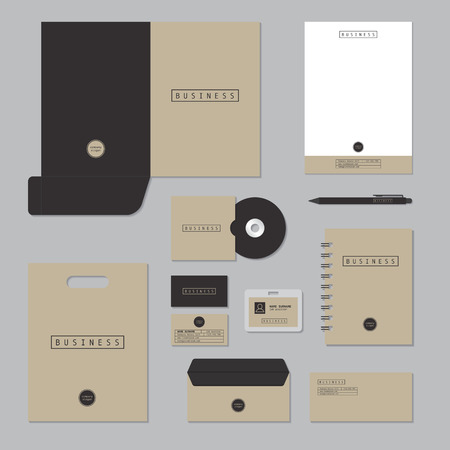stationery set: Stationary template design. Corporate identity business set. Illustration