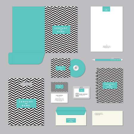 stationary set: Stationary template design. Corporate identity business set. Illustration