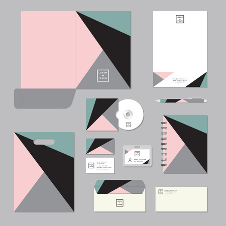 pastels: Stationary template design. Corporate identity business set. Illustration