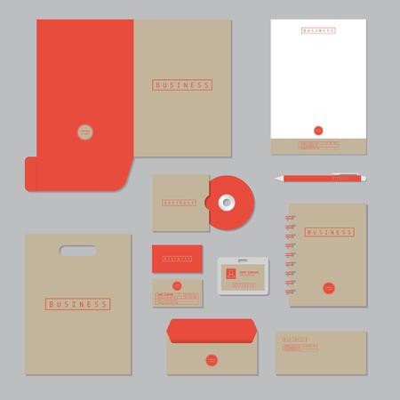 carpetas: Diseño de la plantilla fija. Establece negocio identidad corporativa.