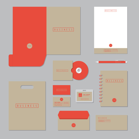 Stationary template design. Corporate identity business set. Çizim