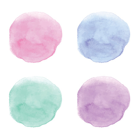 Watercolor vector design elements