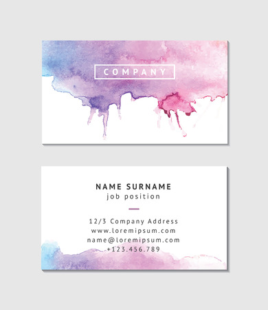 company name: Watercolor Business Card Template
