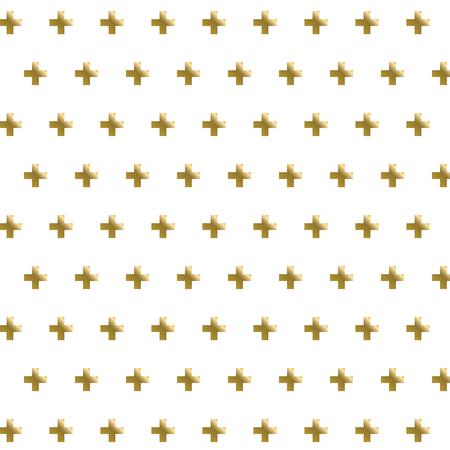 Golden cross seamless pattern background Zdjęcie Seryjne - 61782597