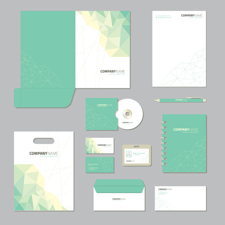 folder: Diseño de la plantilla de escritorio. Establece negocio identidad corporativa.
