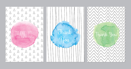 hand with card: Thank You Cards Illustration