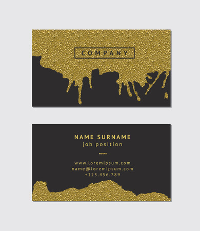 usiness card with golden detail