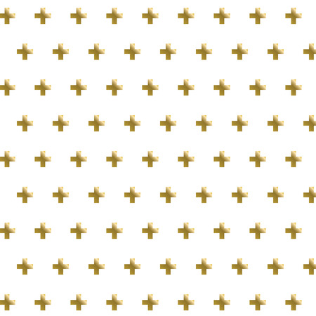 Golden cross seamless pattern background