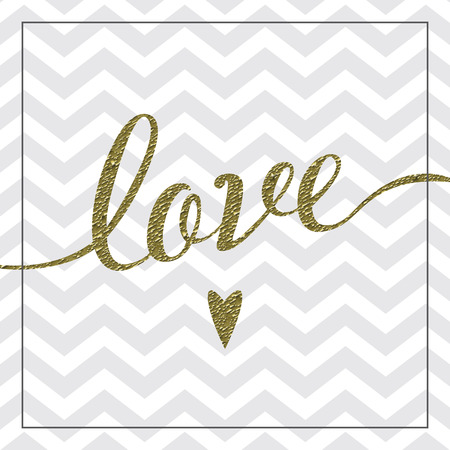 foil: Love card with gold foil detail