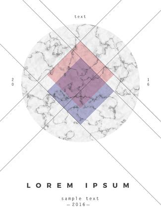 ポスター、パンフレットや名刺の幾何学的設計  イラスト・ベクター素材