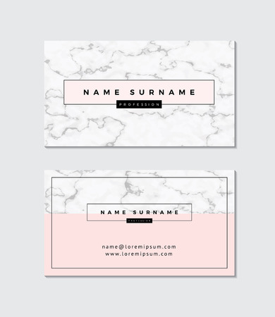 Business card with marble texture Çizim