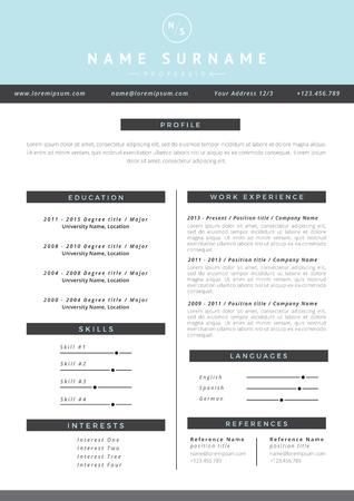 Resume template Zdjęcie Seryjne - 64204511