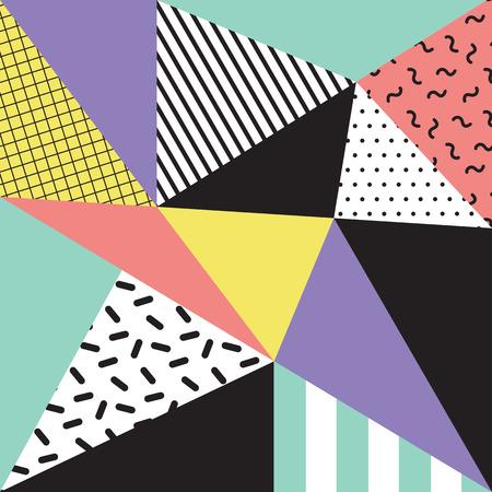 memphis: Retro memphis style background, 80s, 90s Illustration