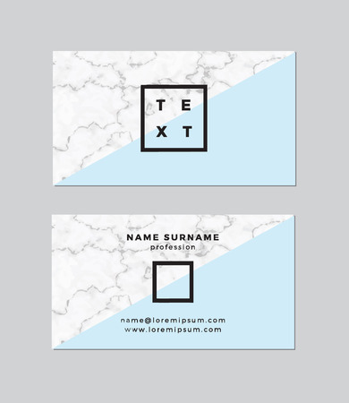 Business card with marble texture Ilustracja
