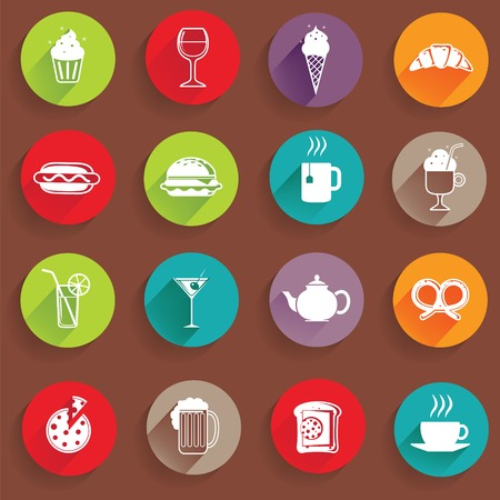 category: Set of Universal Standard Flat Isolated Restaurant Icons. Restaurant Icons. Vector illustration Illustration