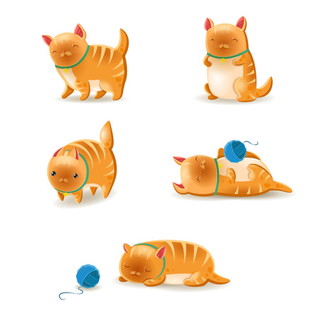 Vector collection of cats. Cats Set. Vector illustration