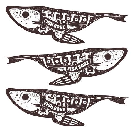skeleton fish: Stylized skeleton Fish.