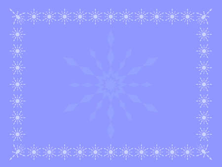 coolness: Pale blue winter background theme, card with snowflakes in different shades of blue Illustration