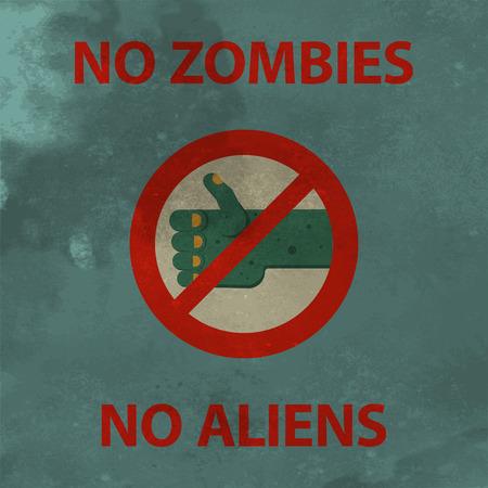 Poster no zombie Vector