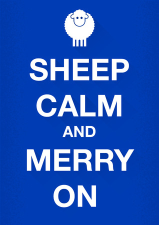 Keep calm merry sheep Vector