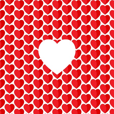 aon: Vector heart Valentines day pattern red aon white background