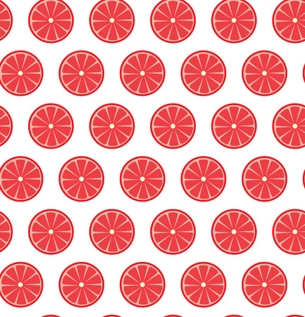 citric: Vector seamless pattern with grapefruits. Vector illustration. Design element for  for cafe or restaurant or web and print design